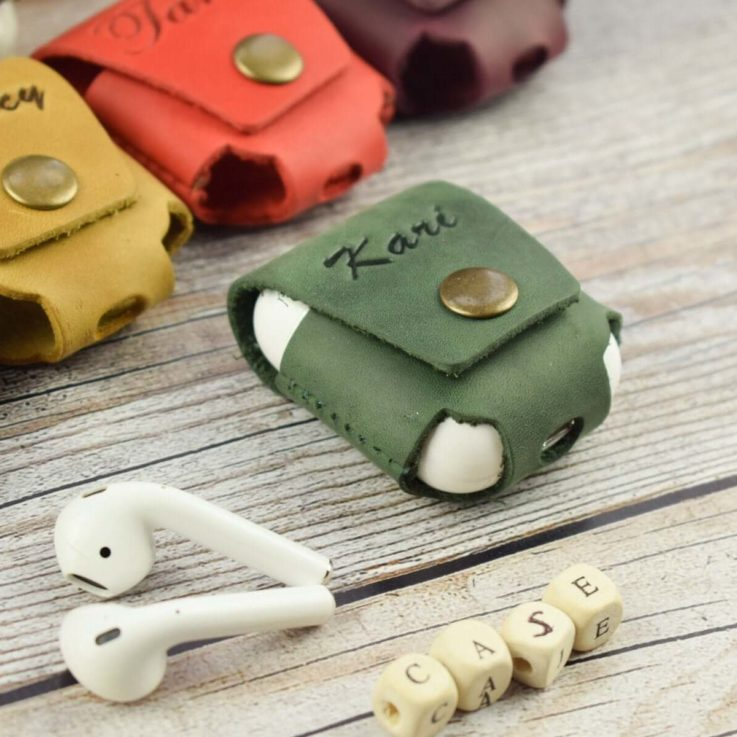 Personalized Leather AirPods Case