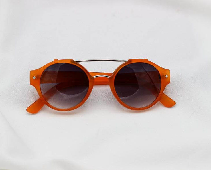 Round Orange Candy Aviators