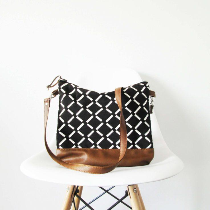 geometric-print-leather-bag