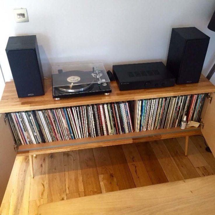 Allium Platinum Record Cabinet 70s Retro Sideboard