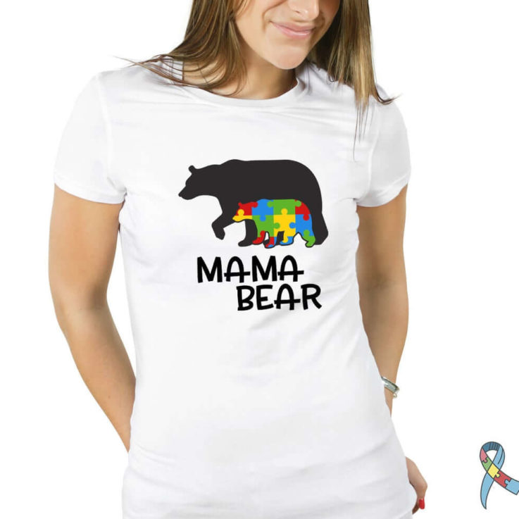 Autism mama bear shirt, autism mothers day, mama bear autism tee, autism awareness, gift for mom, mothers day gift