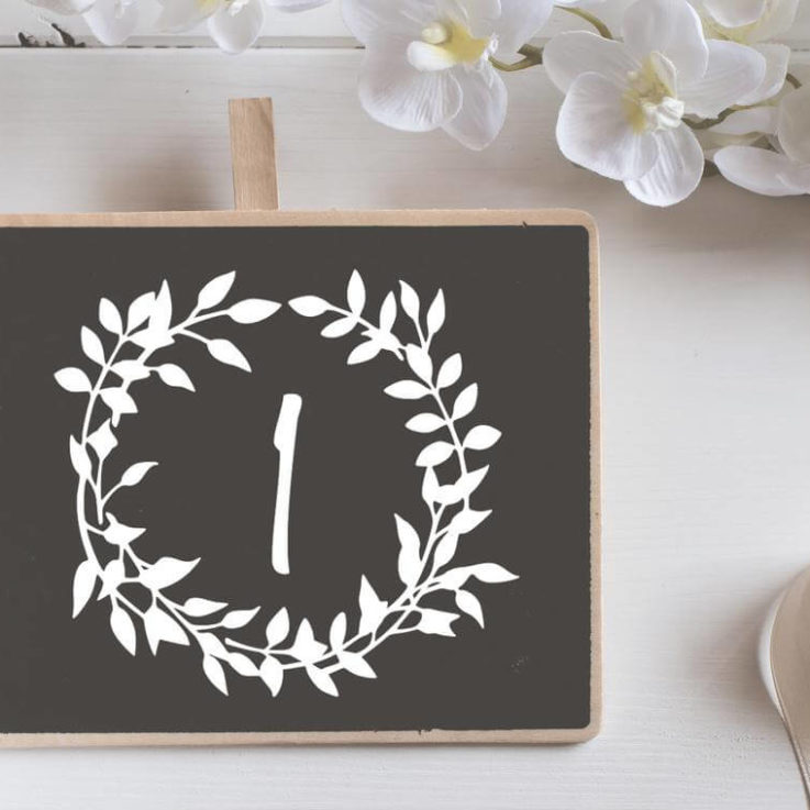 Botanical Table Number Decal, DIY Table Numbers, Modern Wedding Vinyl, Wreath Number Sticker, Centerpiece Decal, Reception Decor Decal