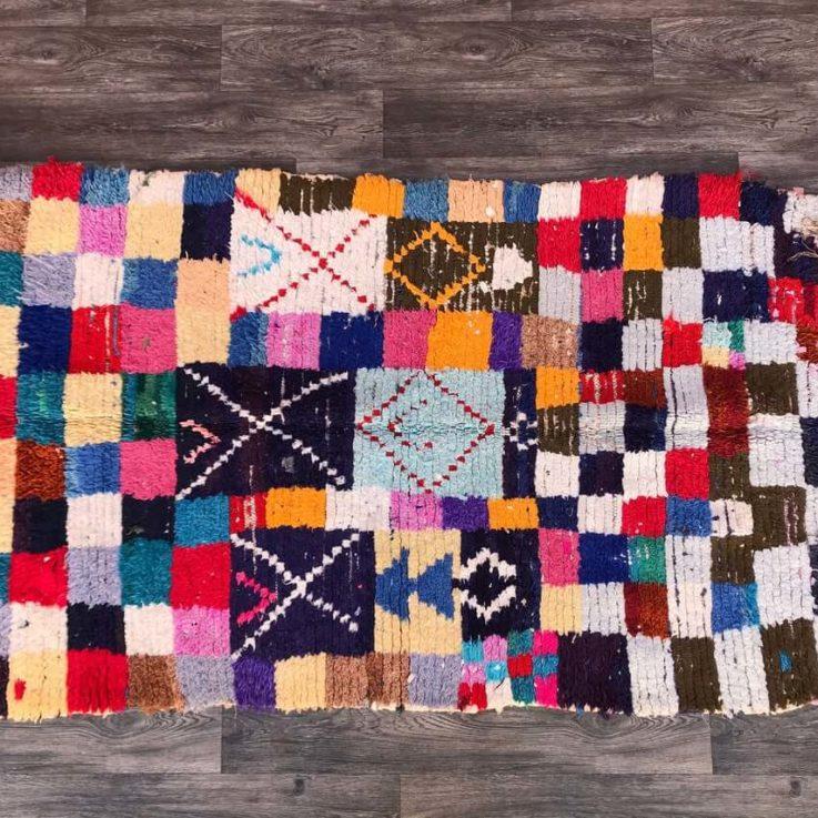 Colofrul Boucherouite runner rug 3x8, Morrocan vintage woven runners, tribal Bohemian long rugs, Moroccan BERBER wool Boho rug