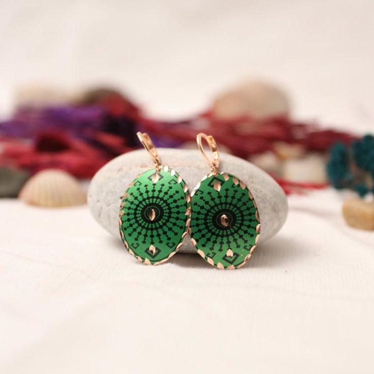 Copper Earrings Handmade Bohemian Earring Dangle