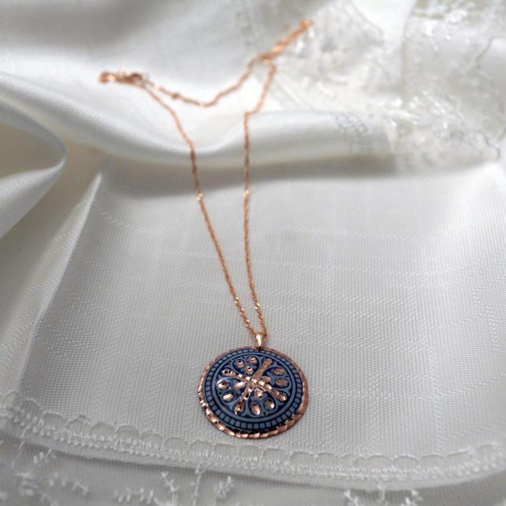 Copper Necklace Engraved Copper Necklace