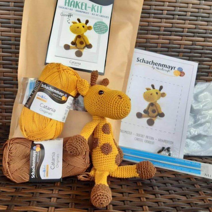 Crochet KIT Giraffe Catania KIT Amigurumi Giraffe KIT