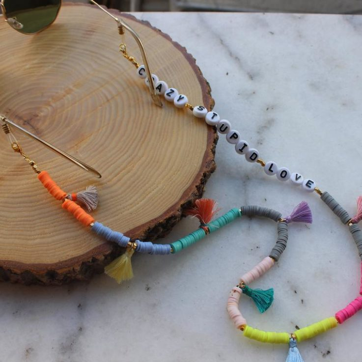 Customizable Sunglass Chains, Trendy Glasses Chain, Fimo Beaded Eyeglass Chain, Unique Gift