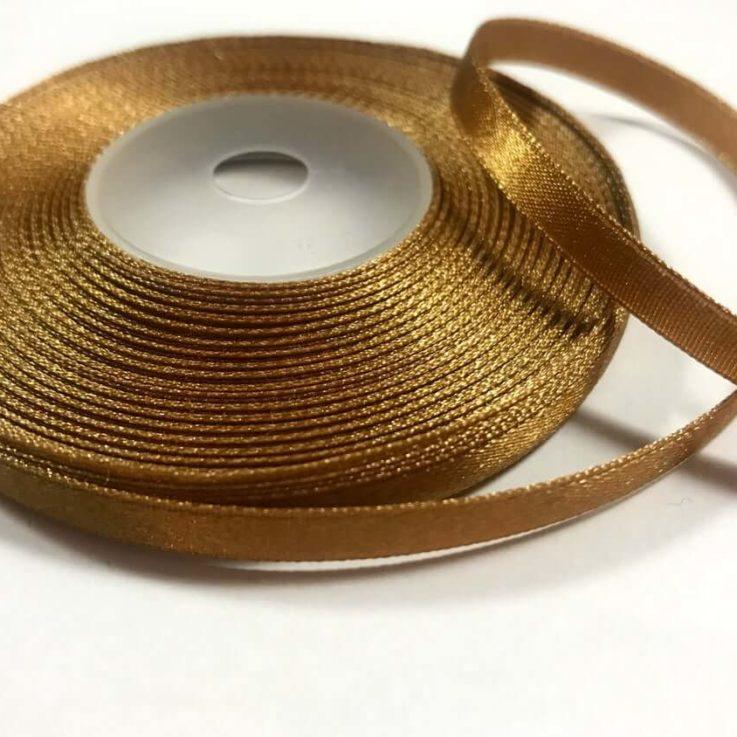 Dark Gold Bronze Satin Ribbon