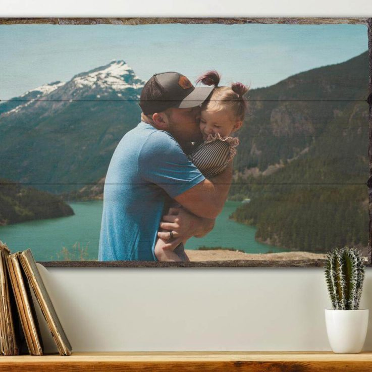 Gifts for Dad Pictures Printed on Wood, Father's Day Gift, Dad Gift, Father Gift, Gift for Him, Fathers Day Gift from Daughter, Fathers day