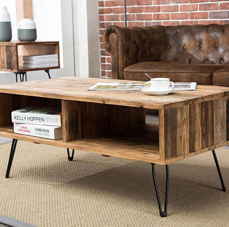 GoldenHands - wood coffee table
