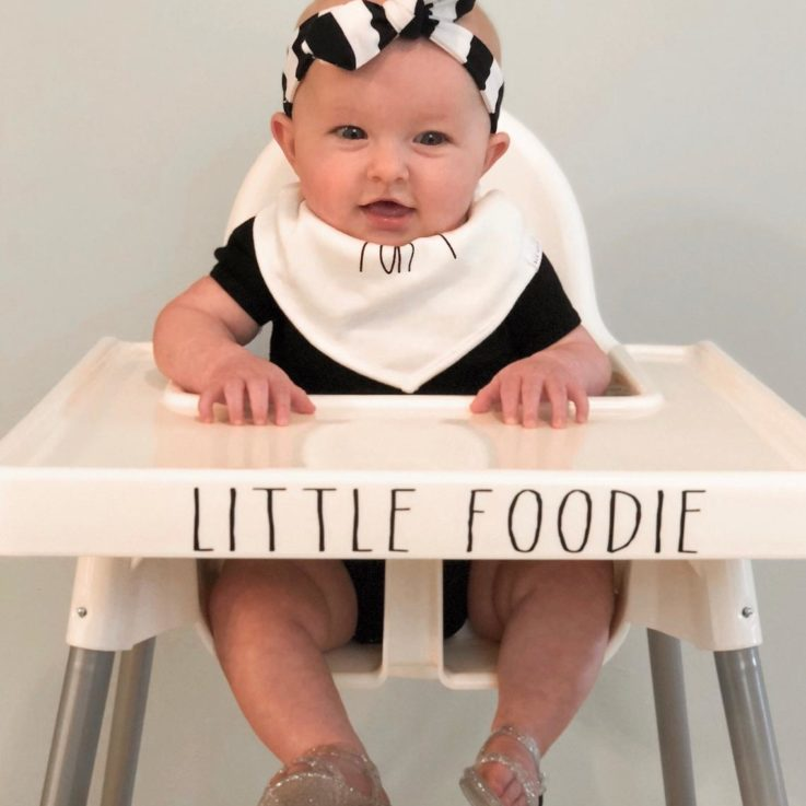 LITTLE FOODIE Decal for Antilop Tray - Vinyl Decal - Ikea Highchair Tray Decal Little Foodie - IKEA high chair accessories - PinaBaby