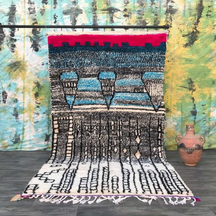 Luxury Morocco rug 5x9 Soft Moroccan lovely mrirt rug moroccan rug wool rug handmade Morocco rug living-room rug moroccan carpet bleue rug