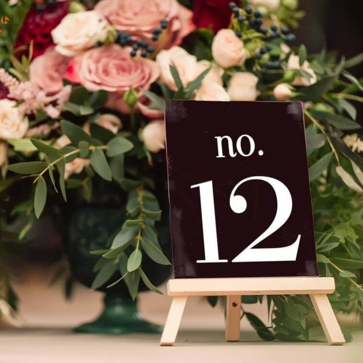 Modern Table Numbers Decal, Wedding Vinyl Decals, Reception Decor, Table Number Stickers, Numbers for Seating, Wedding Reception Decal