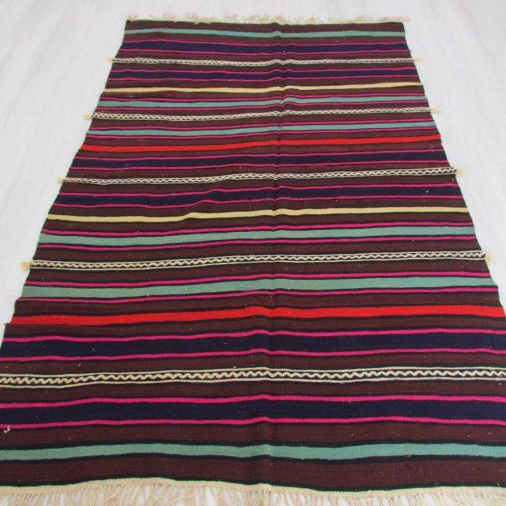 Multicolor Kilim Rug, 7.8 x 5.11 Feet Rug, Area Rug, Boho Rug, Wool Rug, Tribal Rug, Ethnic Rug, Handmade Rug, Vintage Rug, Living Room Rug