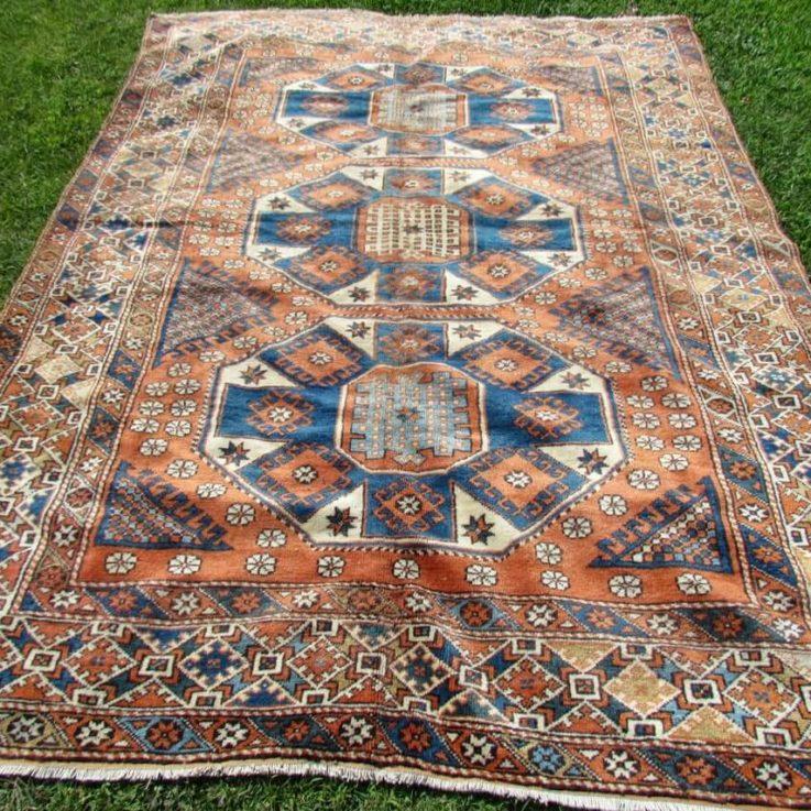 Orange Oushak Rug, 10 x 7.28 Feet Rug, Turkish Rug, Handmade Rug, Wool Rug, Anatolian Rug, Vintage Rug, Rugs For Living Room, Bohemian Rug