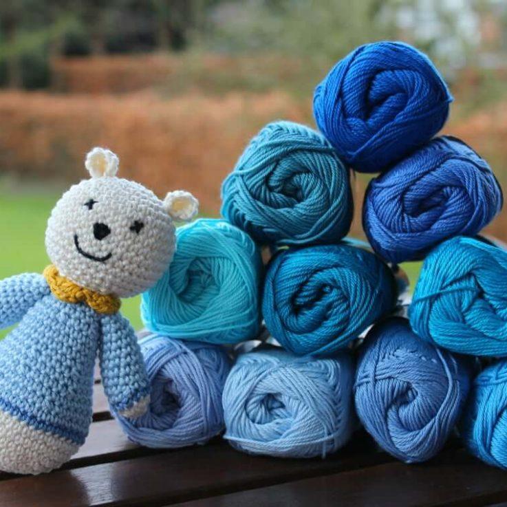 Prince Catania yarn package 10 Catania yarn skeins in blue shades Blue yarn Amigurumi yarn