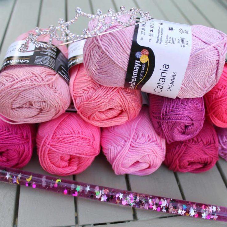 Princess Catania yarn package 10 Catania yarn skeins in pink shades Pink yarn Amigurumi yarn Crochet Yarn Worldwide Shipping