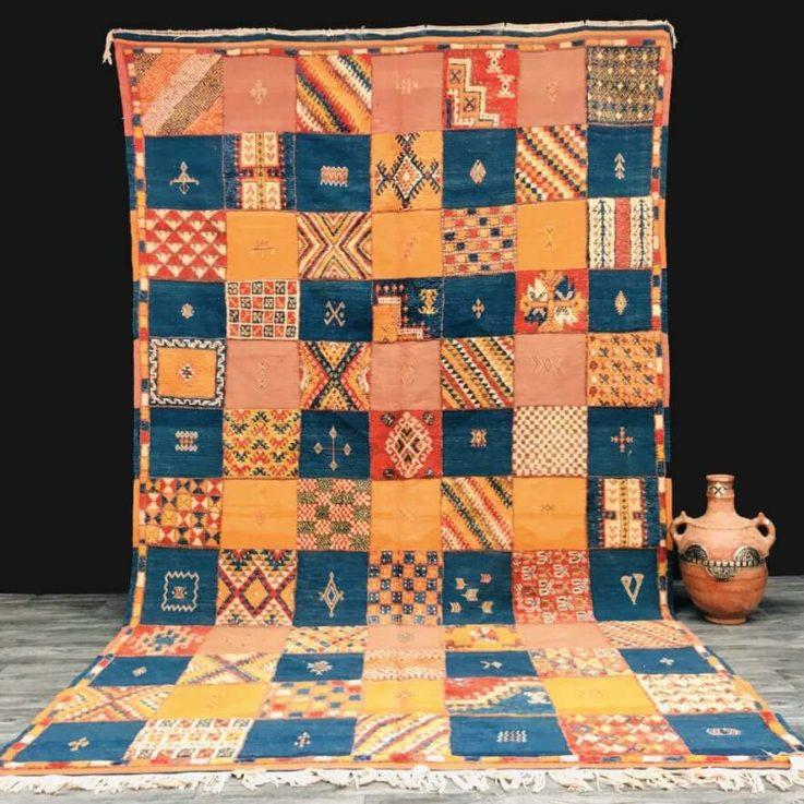 Stunning Moroccan rug - 6 ft x 10 ft - handmade rug - wool rug - akhnif rug - vintage rug - moroccan rug - berber rug - large moroccan rug