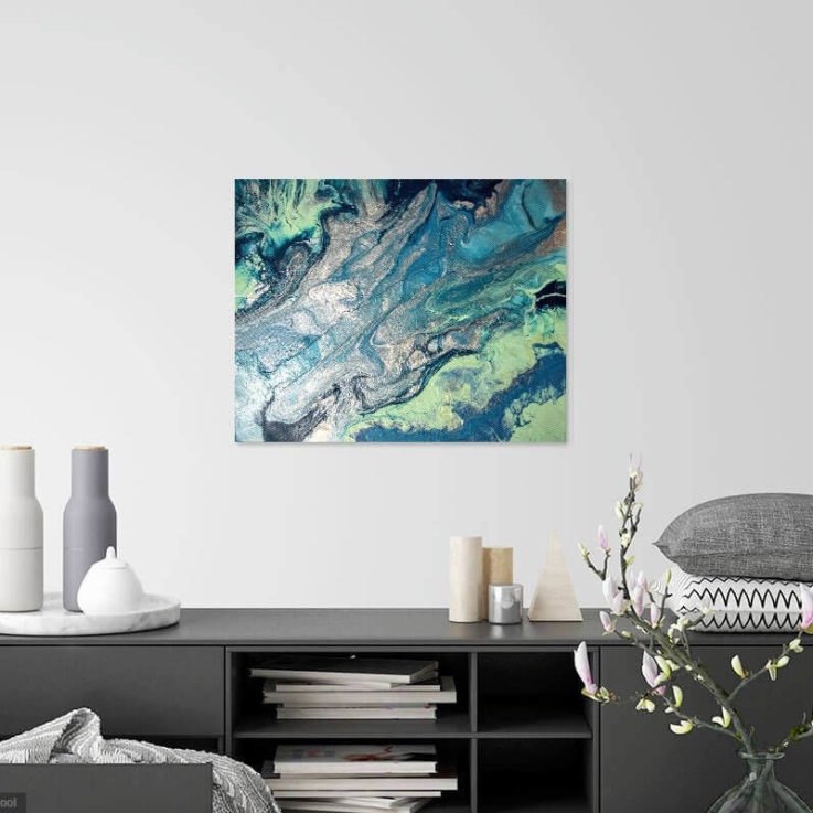 Turquoise Abstract Art, Celadon Abstract Art, Abstract Art, Abstract Painting, Marble Art, Marble Painting, Ocean Art, Ocean Painting