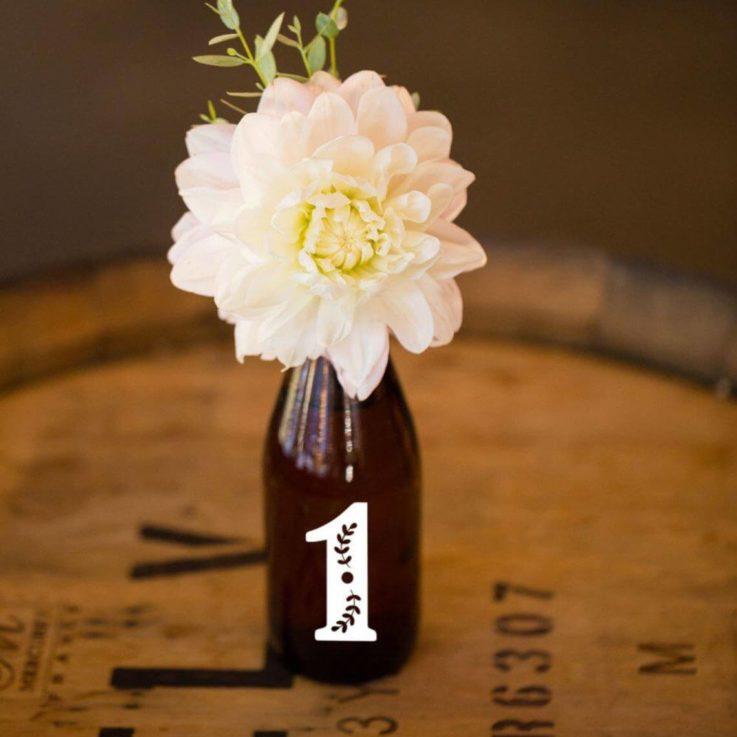 Wedding Table Number, Wine Bottle Number, Reception Decor, DIY Table Numbers, Vintage Wedding Vinyl, Number Sticker,Centerpiece Decal
