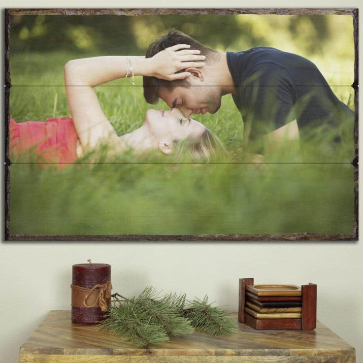 Wood Photo Cubes Photos Printed on Wood Pallet Photo Rustic Home Decor Couple Gifts for 5th Anniversary Gifts For Him Pictures on wood