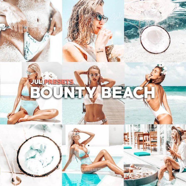 4 Mobile Lightroom Presets Bounty Beach - Lifestyle Blogger Filter for Photo, Instagram Presets, Lightroom Mobile, Presets Mobile Lightroom