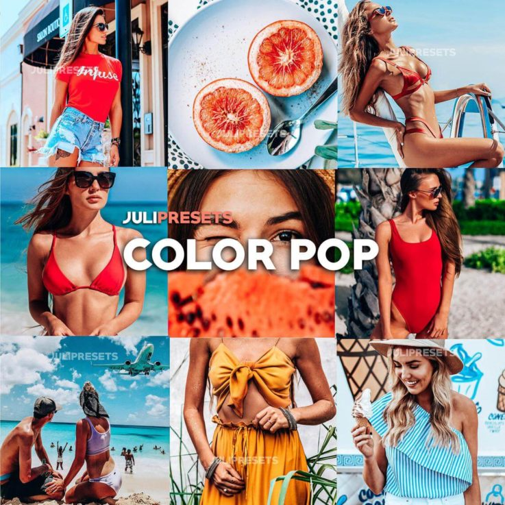 4 Mobile Lightroom Presets Color Pop - Lifestyle Blogger Filter for Photo, Instagram Presets, Lightroom Mobile, Presets Mobile Lightroom