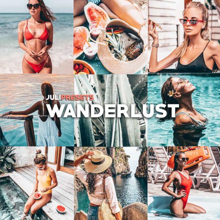 4 Mobile Lightroom Presets Wanderlust - Lifestyle Blogger Filter for Photo, Instagram Presets, Lightroom Mobile, Presets Mobile Lightroom