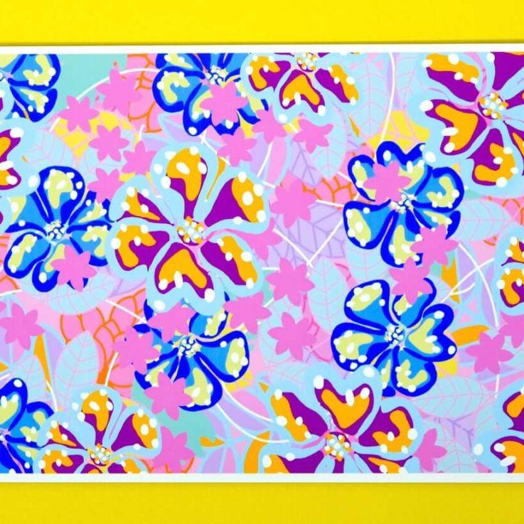 Blossom - Bold Botanicals' Wild Collection - Original Digital Art Print - Colourful Wild Florals Print 1
