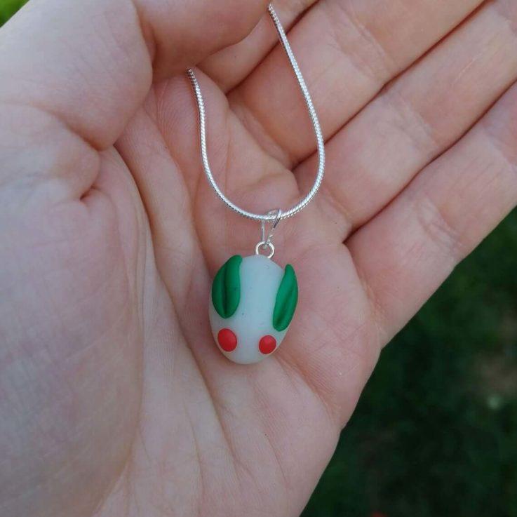 Cute Snow Rabbit Yuki Usagi Pendant Necklace - CUSTOM made to order