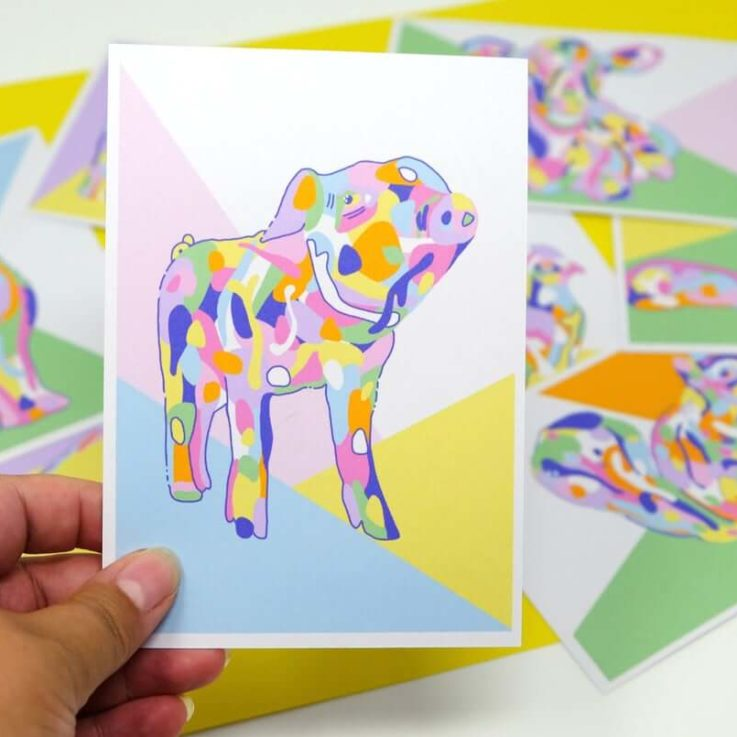 Cute and Colourful Animal Postcard Collection - 8 Blank Postcards - A6 Printed Postcards - Original Digital Illustrations