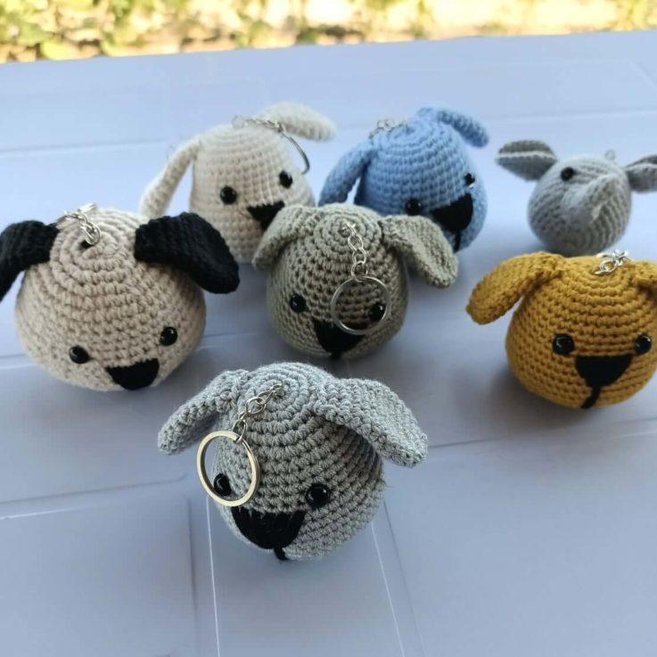 Cutie Dogs Key Chain Amigurumi Crochet