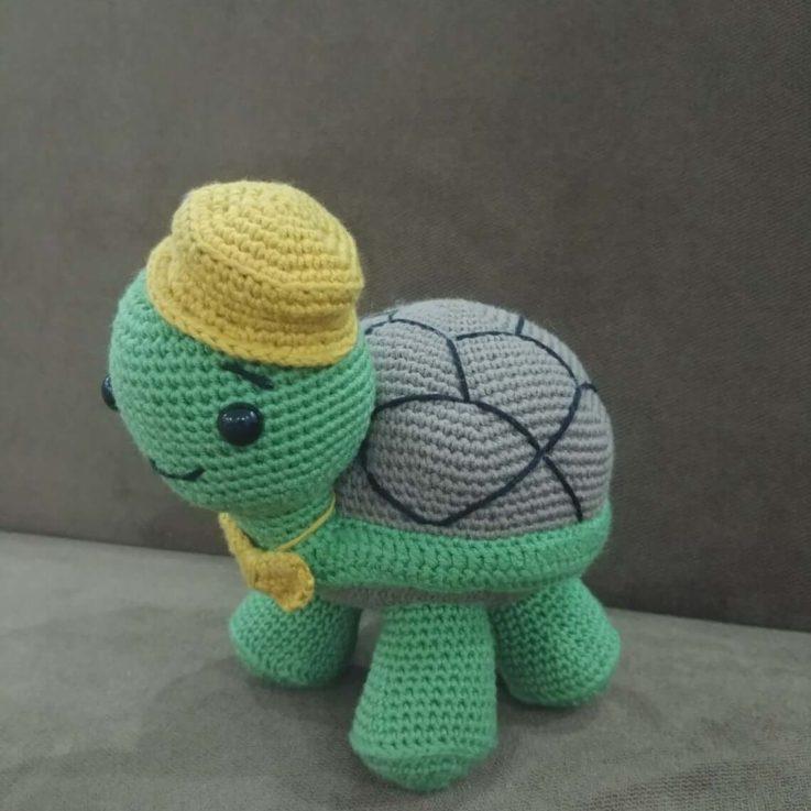 Cutie Tortoise Sleeping Mate for Kids Amigurumi Crochet