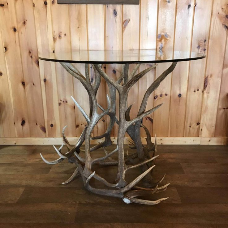 Deluxe Elk Antler Pub Table - BASE