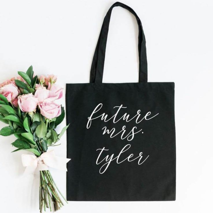 Future mrs tote bag- bride tote bag- gift for bride to be- engagement gift idea- wifey tote- bachelorette party hen party gift for bride bag