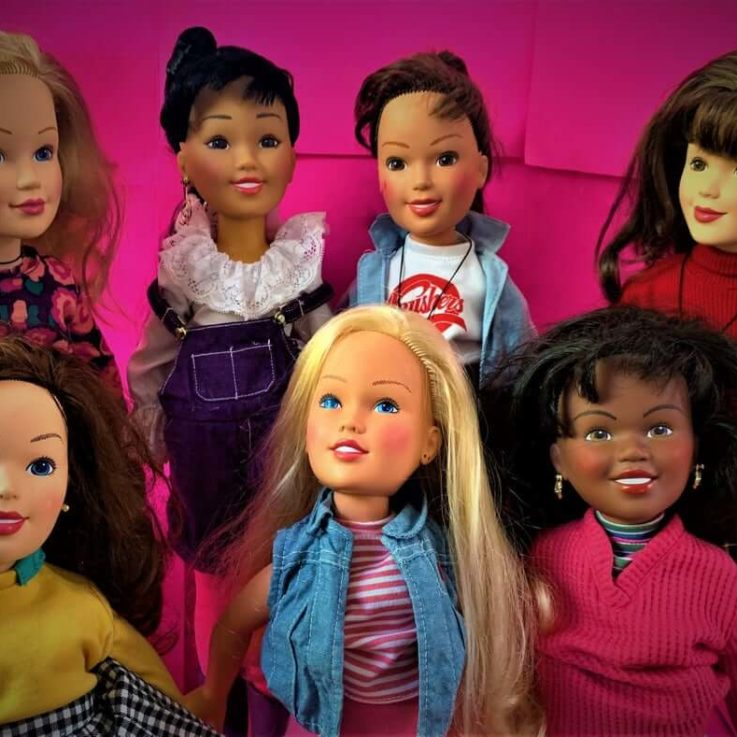 Gently Used Baby-Sitter Club 18 Kenner Dolls with Extra Doll Stand Included!