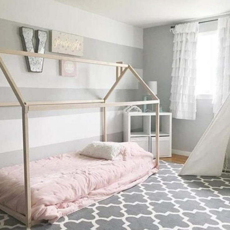 House bed, toddler bed house, Montessori toys, Montessori education, nursery bed, baby bed, wood house