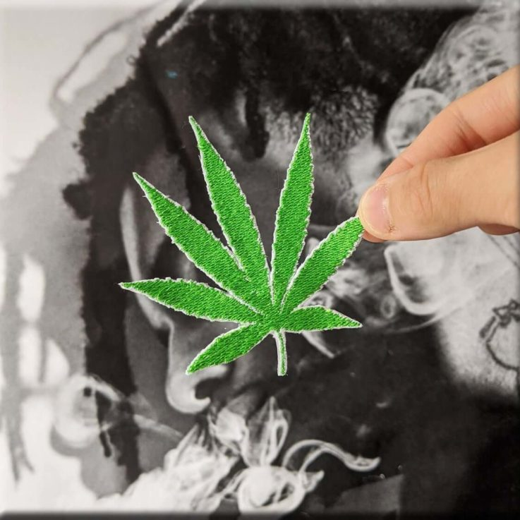 MARIJUANA Embroidered Iron-on Sew-on Patch