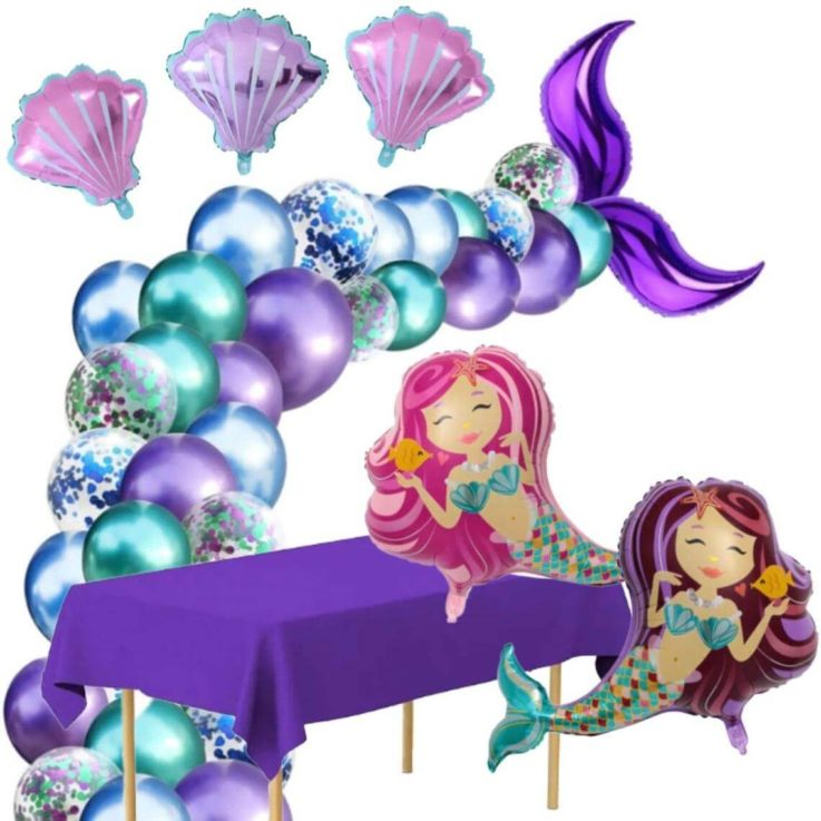 Mermaid Party - Party Set Balloons Tablecloth Mermaid Party Decorations Mermaid Party Decor Ocean Baby Shower Mermaid Birthday