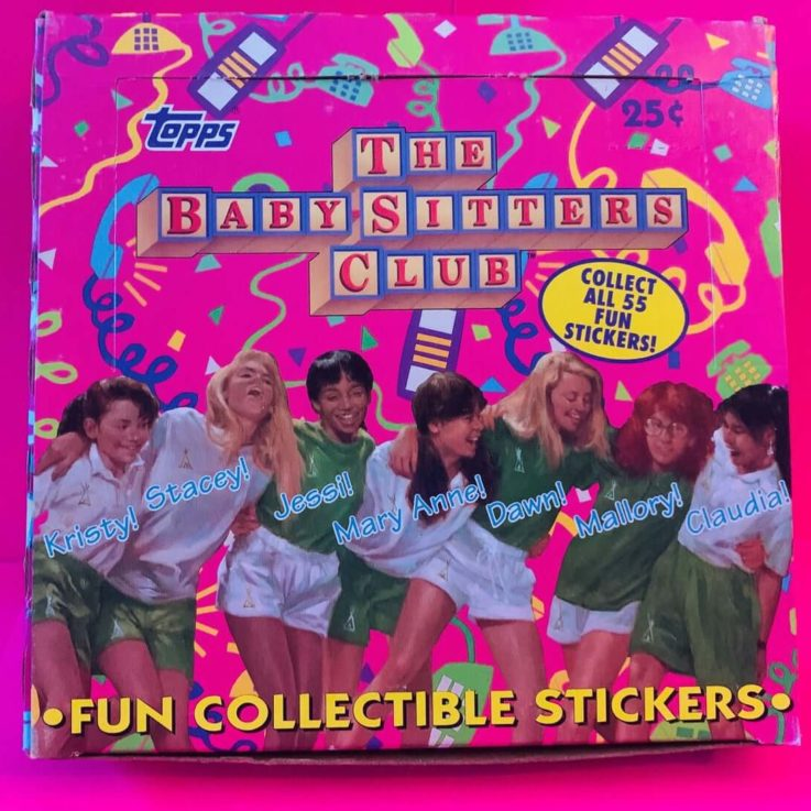 One Pack (Five Stickers) The Baby-Sitters Club Trading Cards Stickers