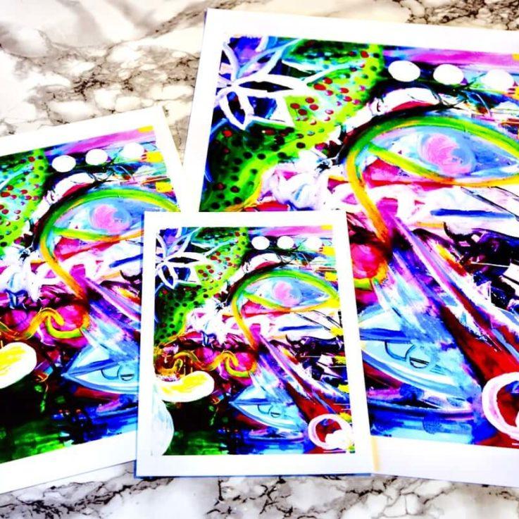 Original Intuitive Art Print - Intuitive Art - Original High Resolution Reproduction - Promoting Positive Mental Health