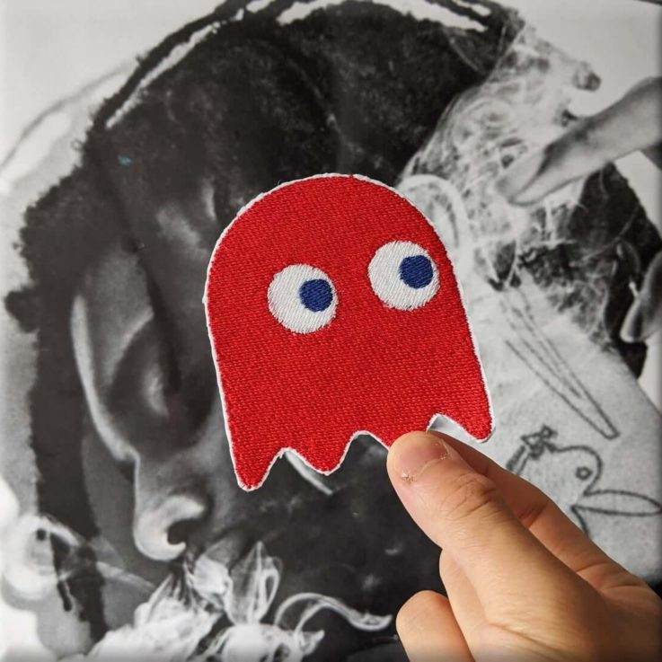 PACMAN GHOST Embroidered Iron-on Sew-on Patch