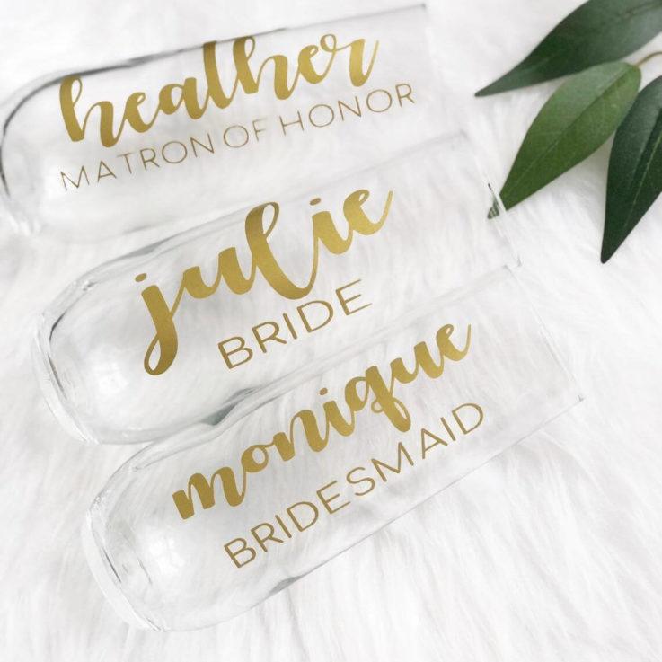PLASTIC Personalized bridesmaid champagne flute gift for bridesmaid proposal box- bridesmaid gift idea- personalized bridal party flutes
