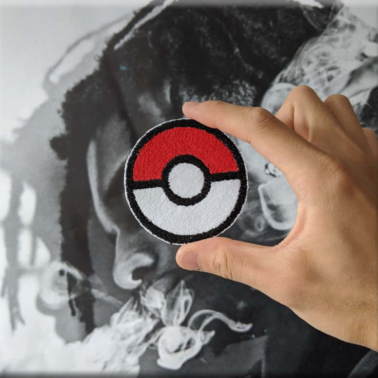 POKEBALL Embroidered Iron-on Sew-on Patch