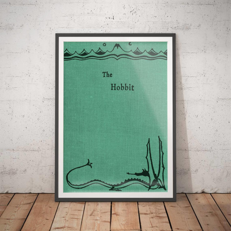 The Hobbit Poster - Book Cover Poster Lord of the Rings Poster Tolkien Literary Gifts Literary Prints Gifts for him