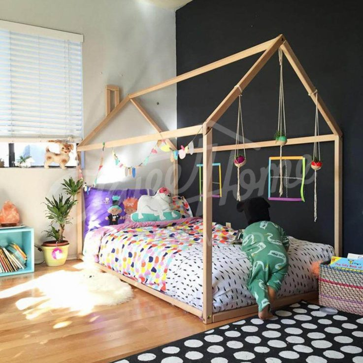 Toddler bed, House bed, Children bed, Wooden house, Tent bed Wood house Wood nursery Kids teepee bed Wood bed frame Wood house bed kids Gift