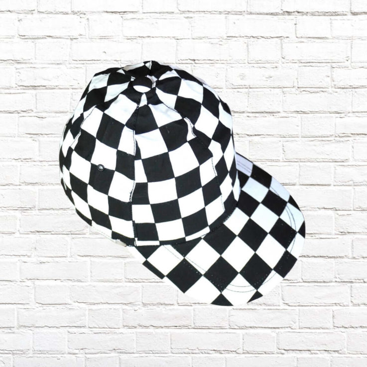 VINTAGE 90's CAPS - Street Style Caps - Original - Produced in 90's - Trucker Hat - Snapback -lightweight- chess pattern