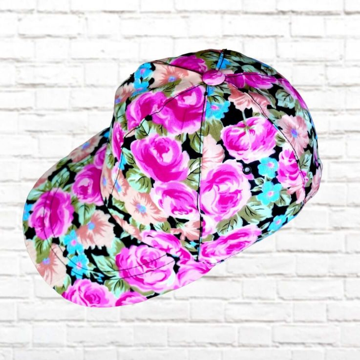 VINTAGE 90's CAPS - Street Style Caps - Original - Produced in 90's - Trucker Hat - Snapback - lightweight - flower pattern