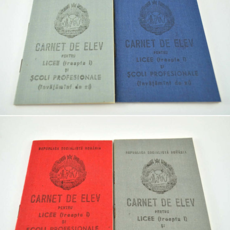 Vintage Unused Booklet for School Grades, Romanian Communist Class Record Book