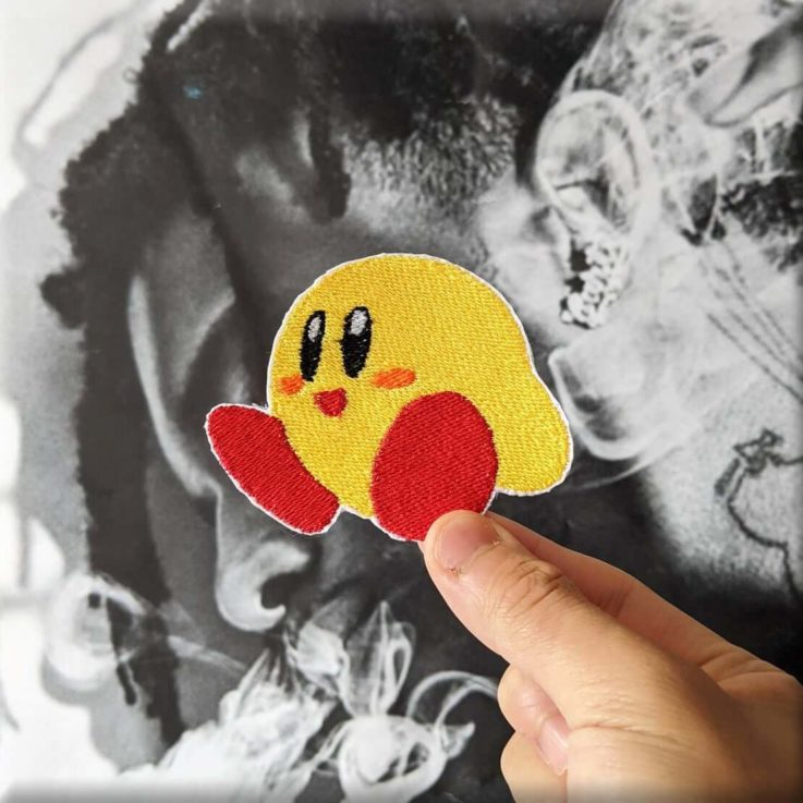 YELLOW KIRBY KEEBY Embroidered Iron-on Sew-on Patch